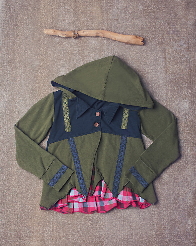 Take it to the Top Jacket in Navy Olive