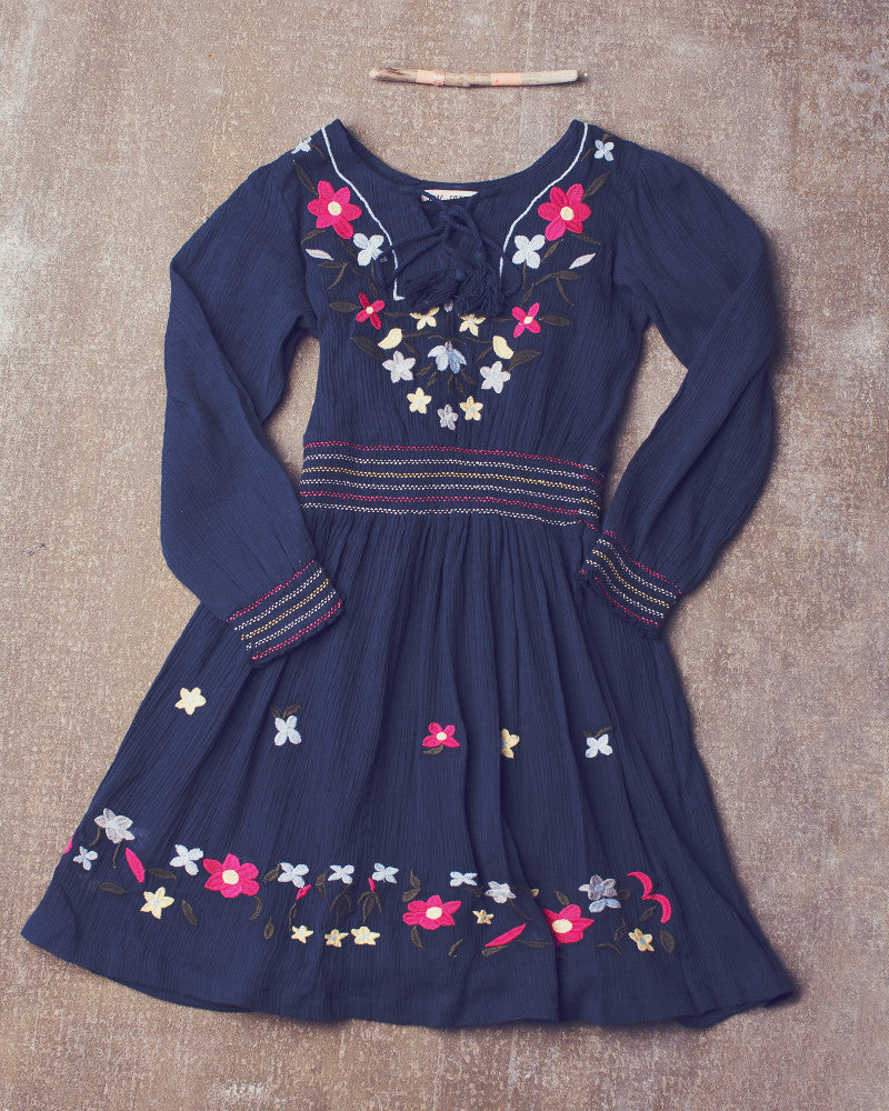 Endless Love Dress in Navy Bean