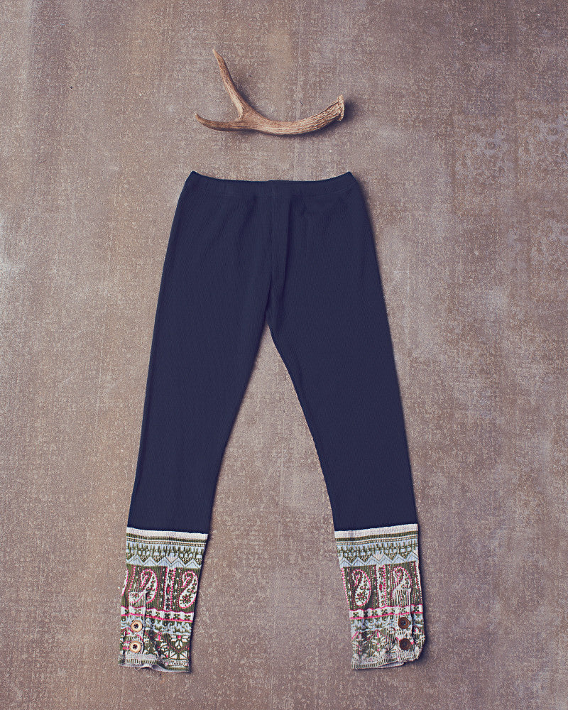 Laney Leggings in Navy Bean