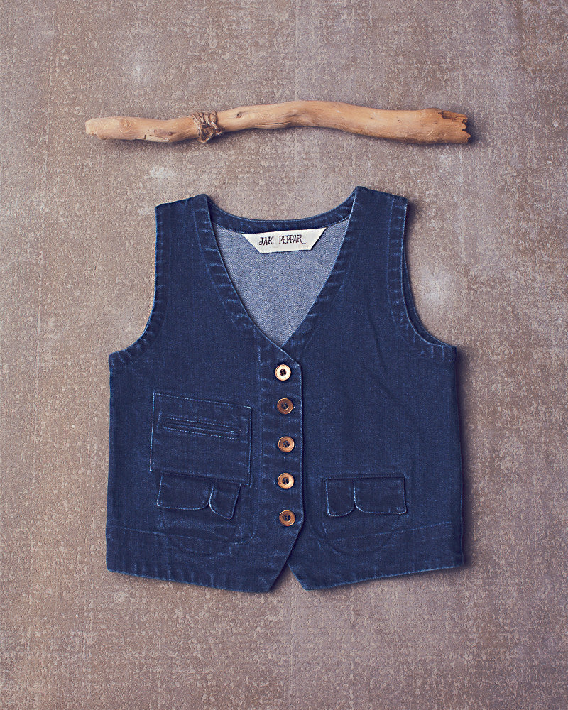 Junk Town Vest in Denim