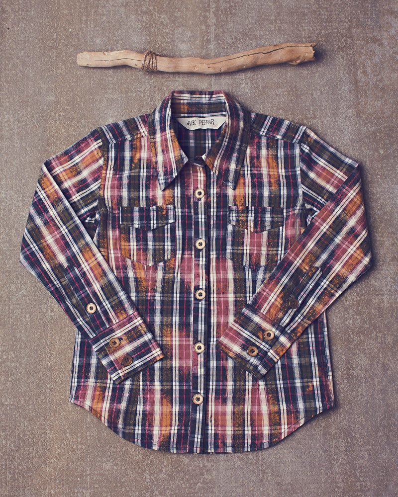Wild Sky Button Down in Pilcro Plaid