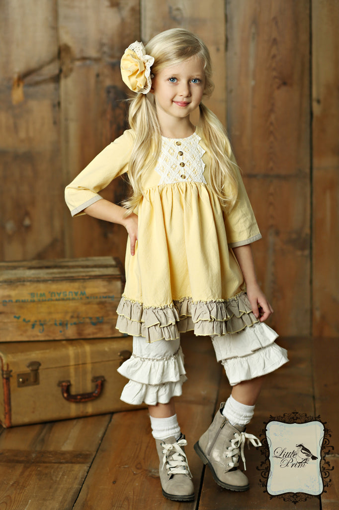Evie Dress in Butter