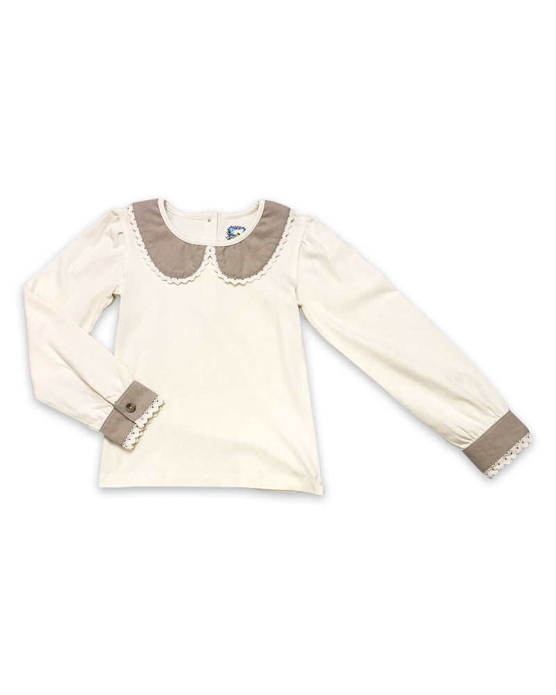 Prim Top in Linen
