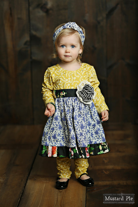 Olivia Dress Set in English Blue