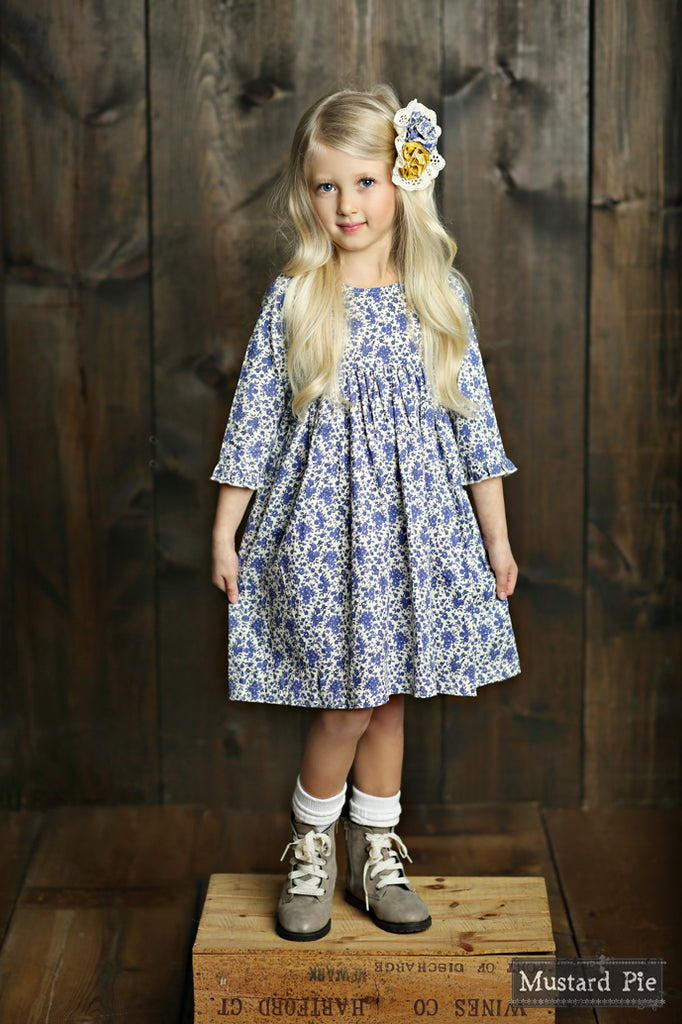 Pepper Dress in English Blue