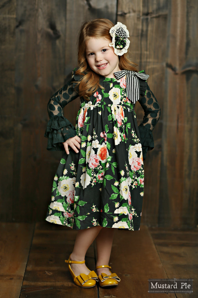 Gabby Dress in Black Floral