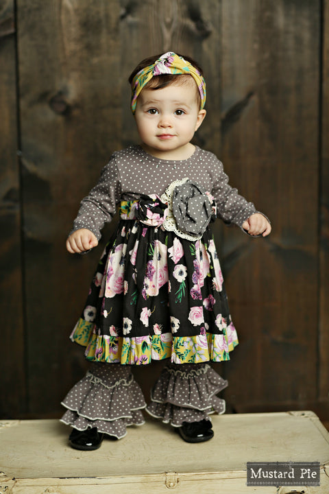 Olivia Dress Set in Vintage Violet