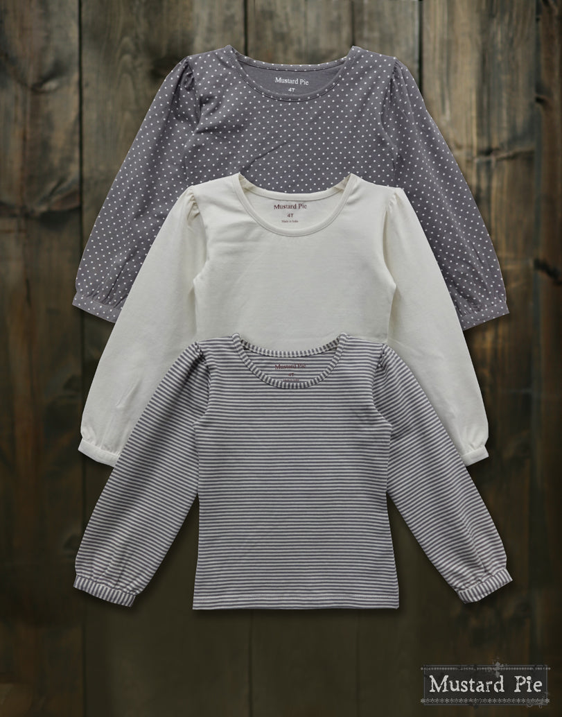 Nelly Top in Grey Dot