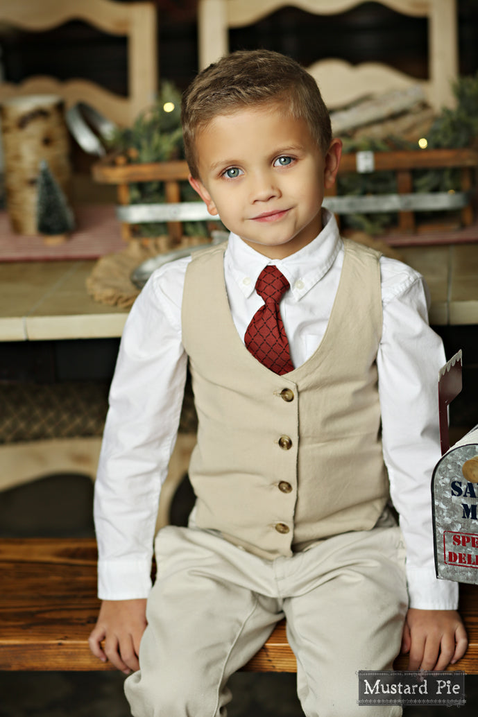 Boys Necktie in Ruby