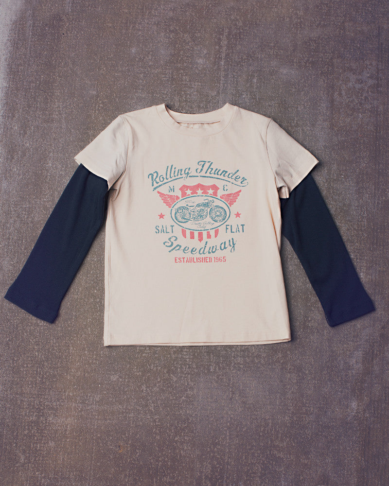 Wagner Tee Long Sleeved in Vanilla