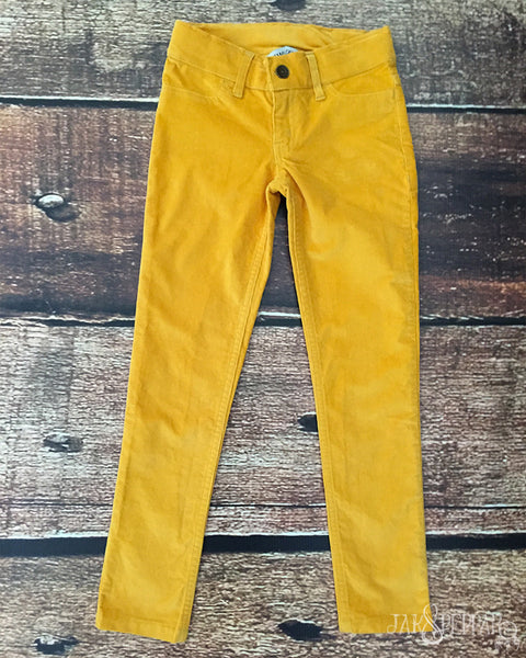 Peppar Pep School Cord Skinnies in Mustard Seed
