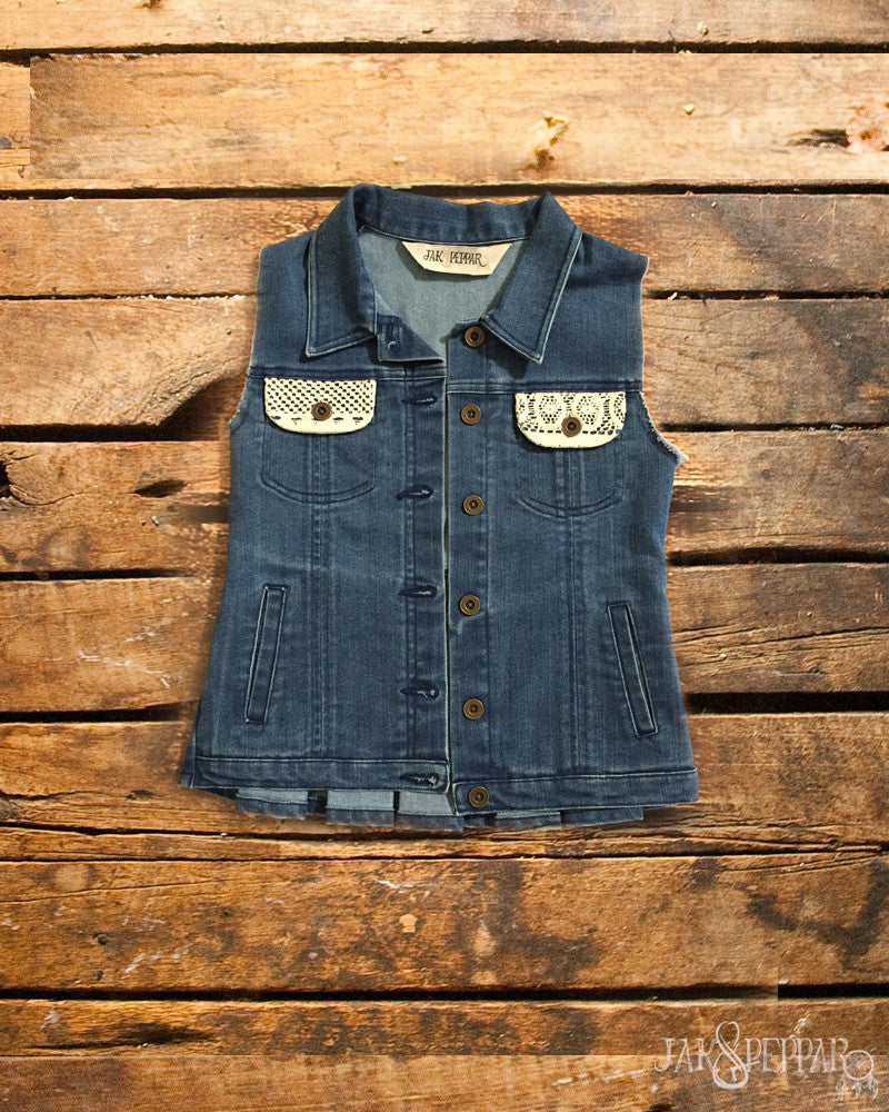 Rock N Shop Vest in Dark Wash