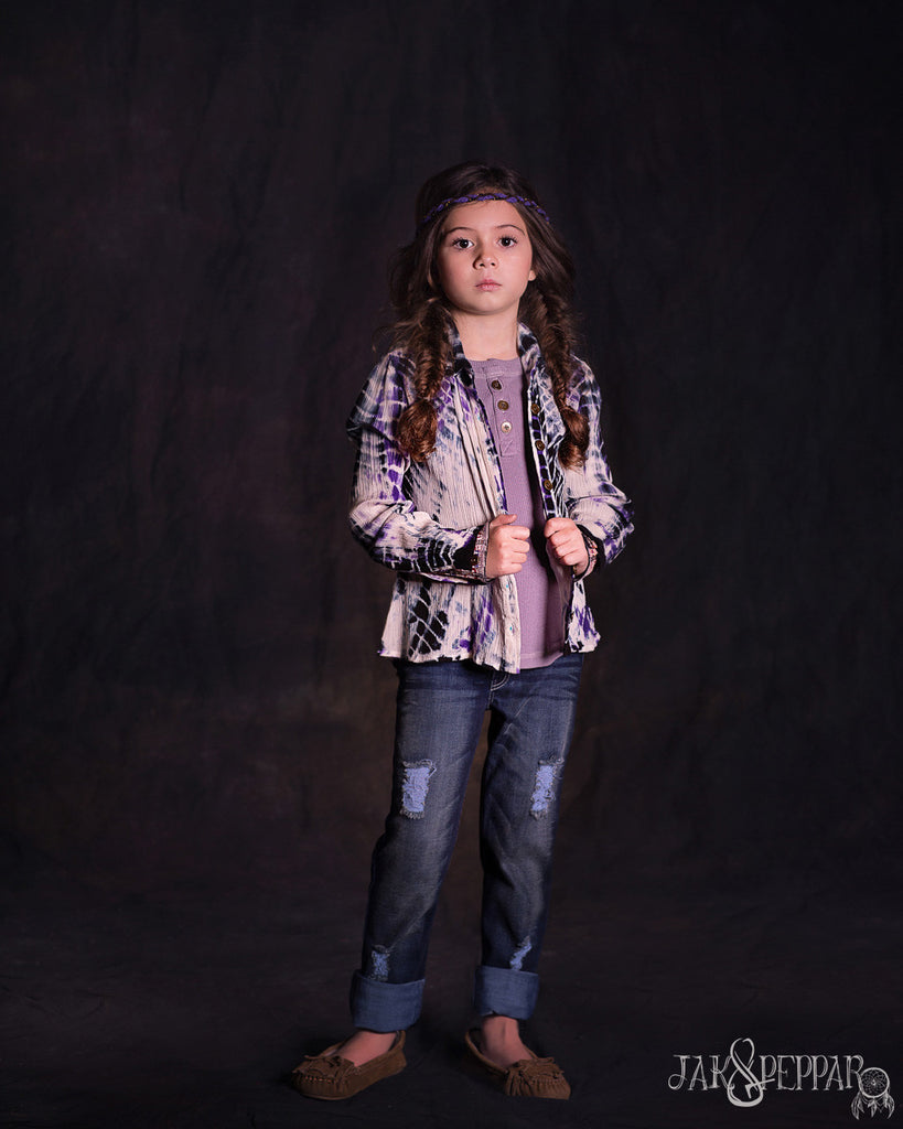 Felicity Button Down in Dazed Electric Purple