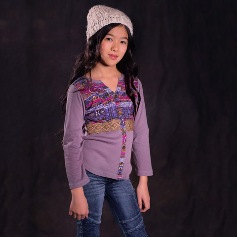 Disco Gypsy Tunic in Aubergine