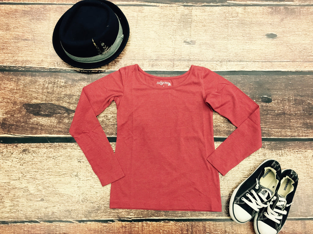 Layer Up Long Sleeve in Faded Crimson