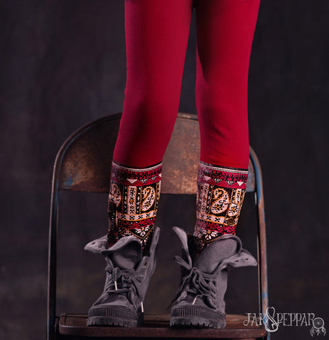Laney Leggings in Crimson