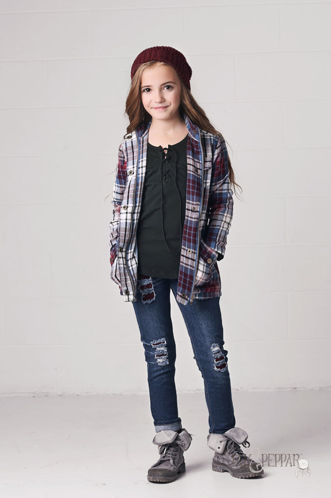 Jamboree Jacket in Washed Plaid
