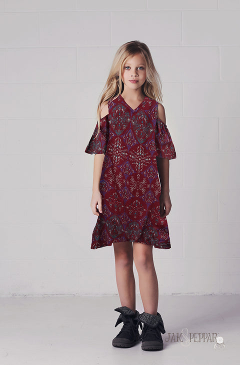 Cecily Dress in Brick