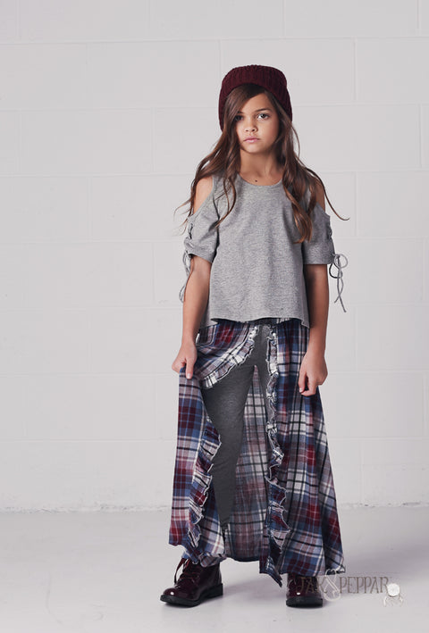 Earth Wind and Fire Maxi in Washed Plaid