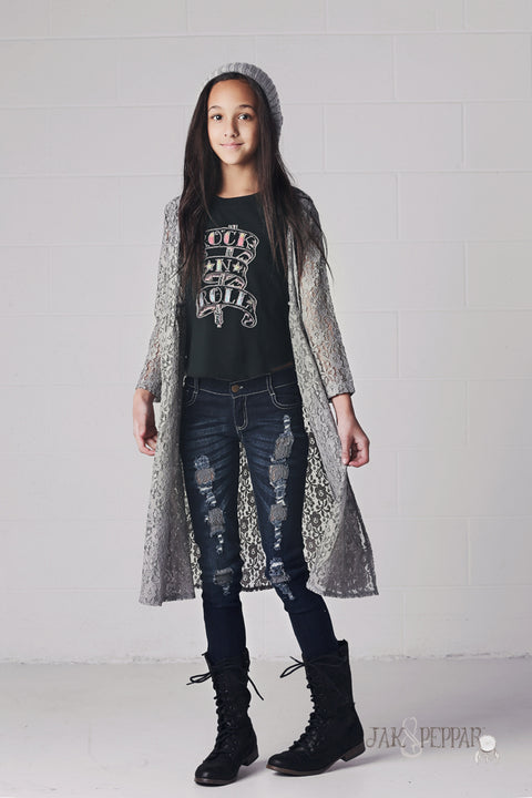 Gypsy Gene Maxi Jacket in Slate