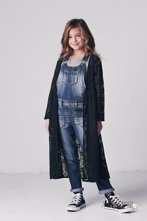 Gypsy Gene Maxi Jacket in Black