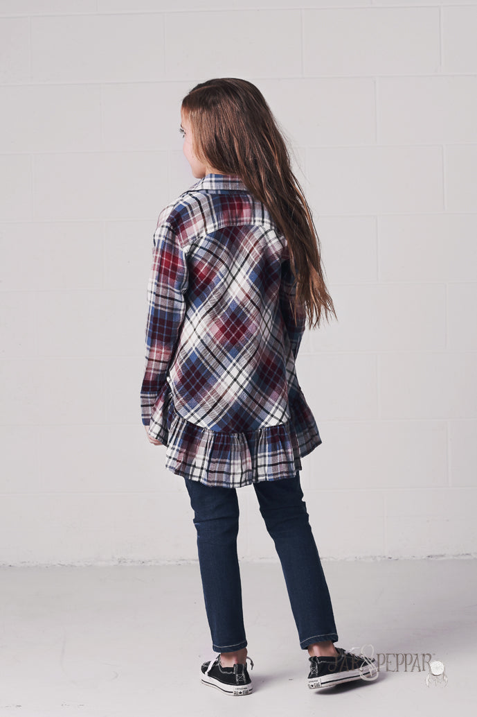 Fly Away Button Down in Washed Plaid