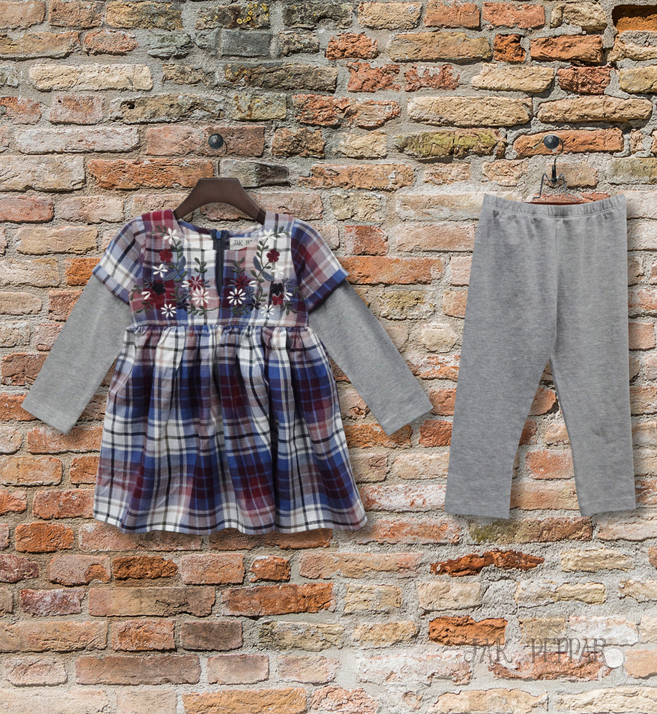 Pippa Tunic Set in Washed Plaid