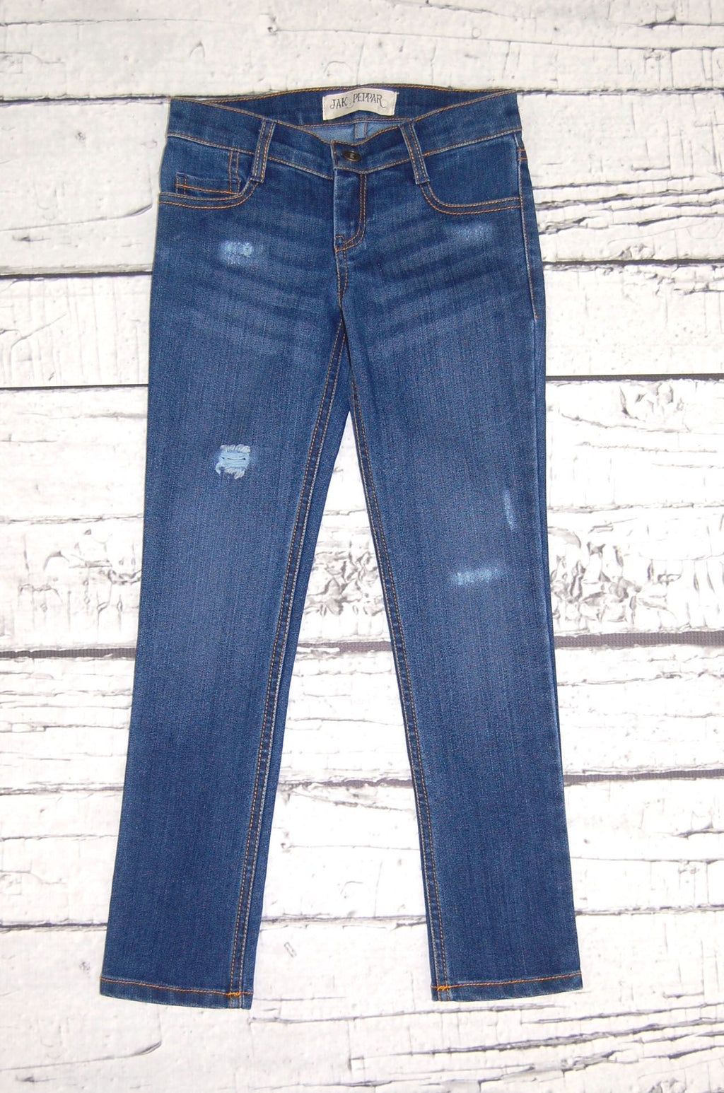 Peppar Boyfriend Skinnies in Medium Wash