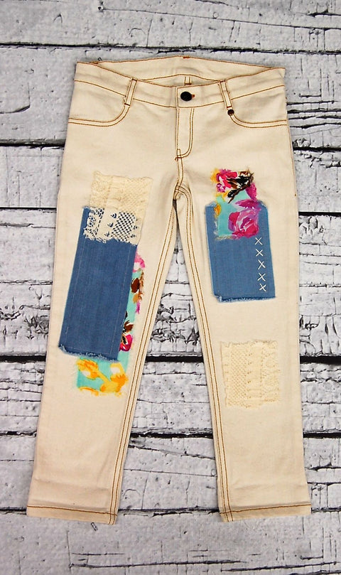 Peppar Prep School Skinnies-Cargo Patch in Shabby Chic Patch