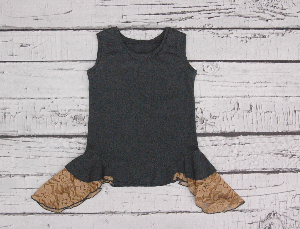 Tea Time Tank in Slate Motif