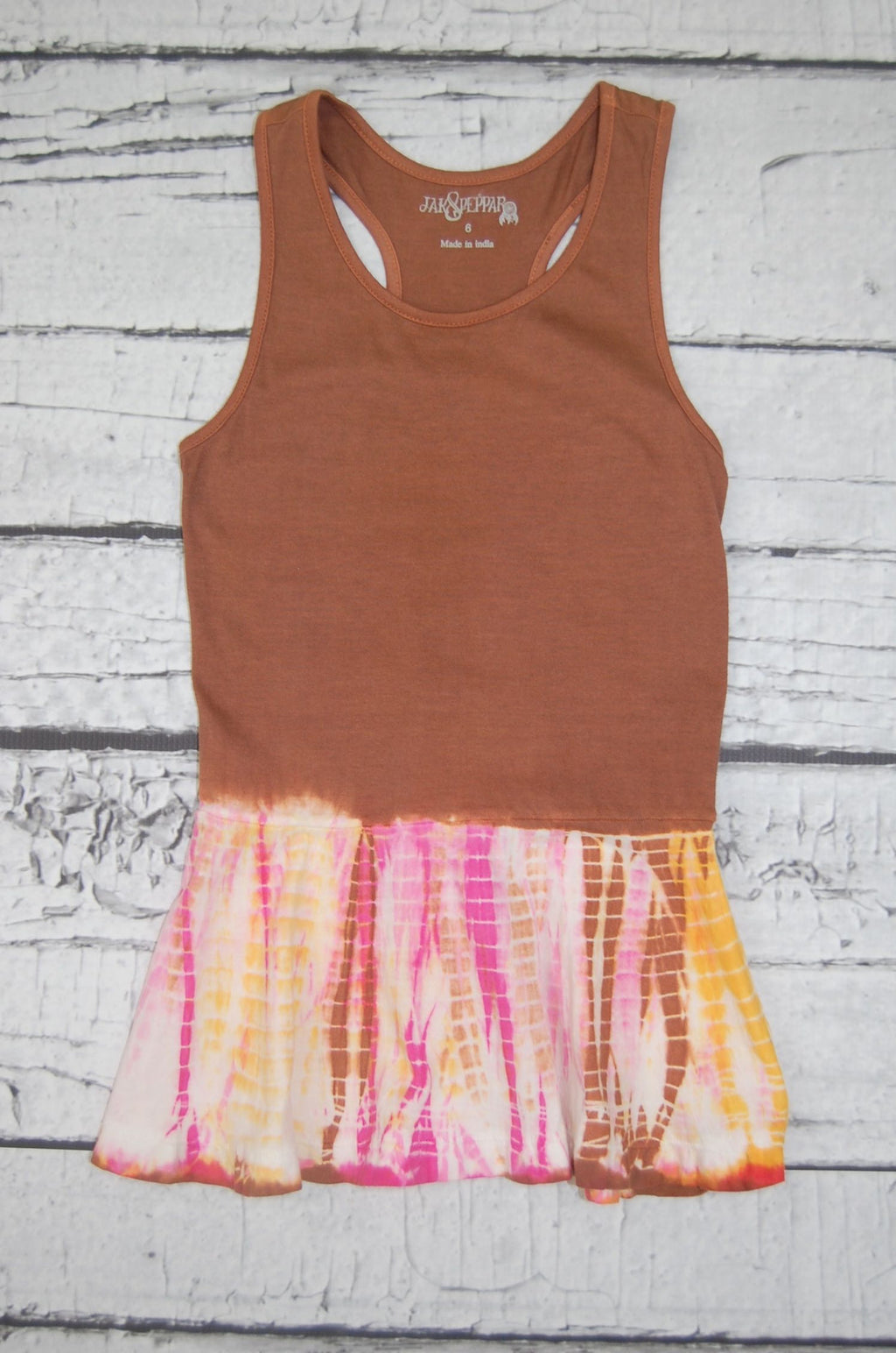 Analee Tank in Chocolate Pink Voltage