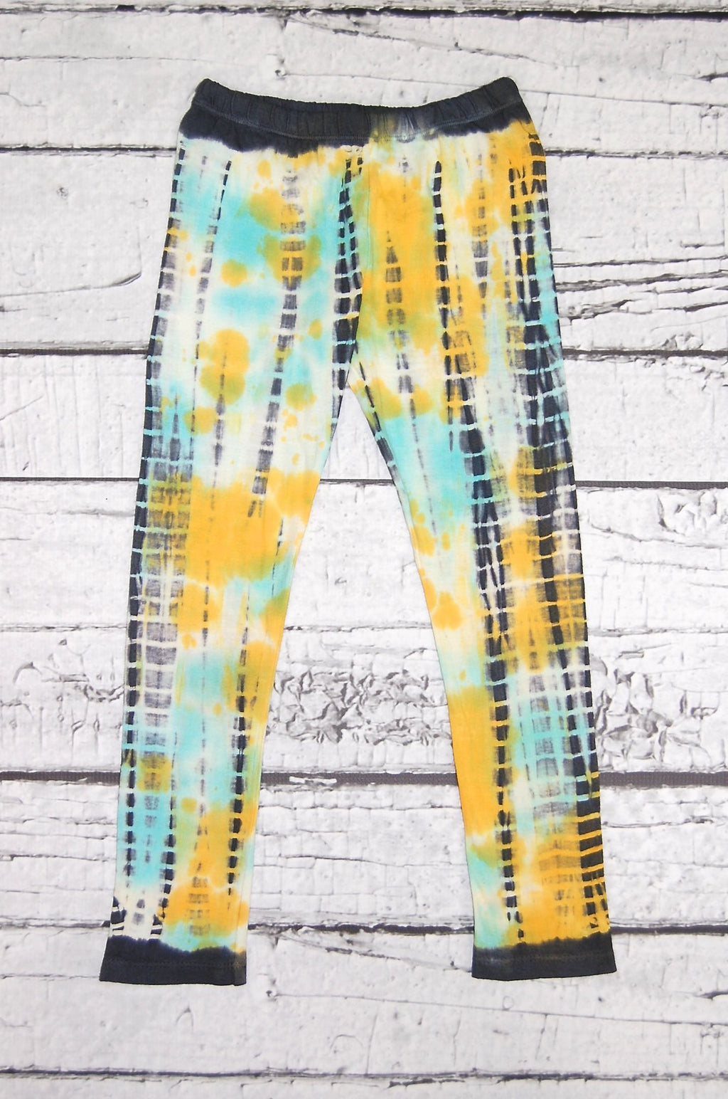 Dazed and Confused Legging in Aqua Punched Dazed