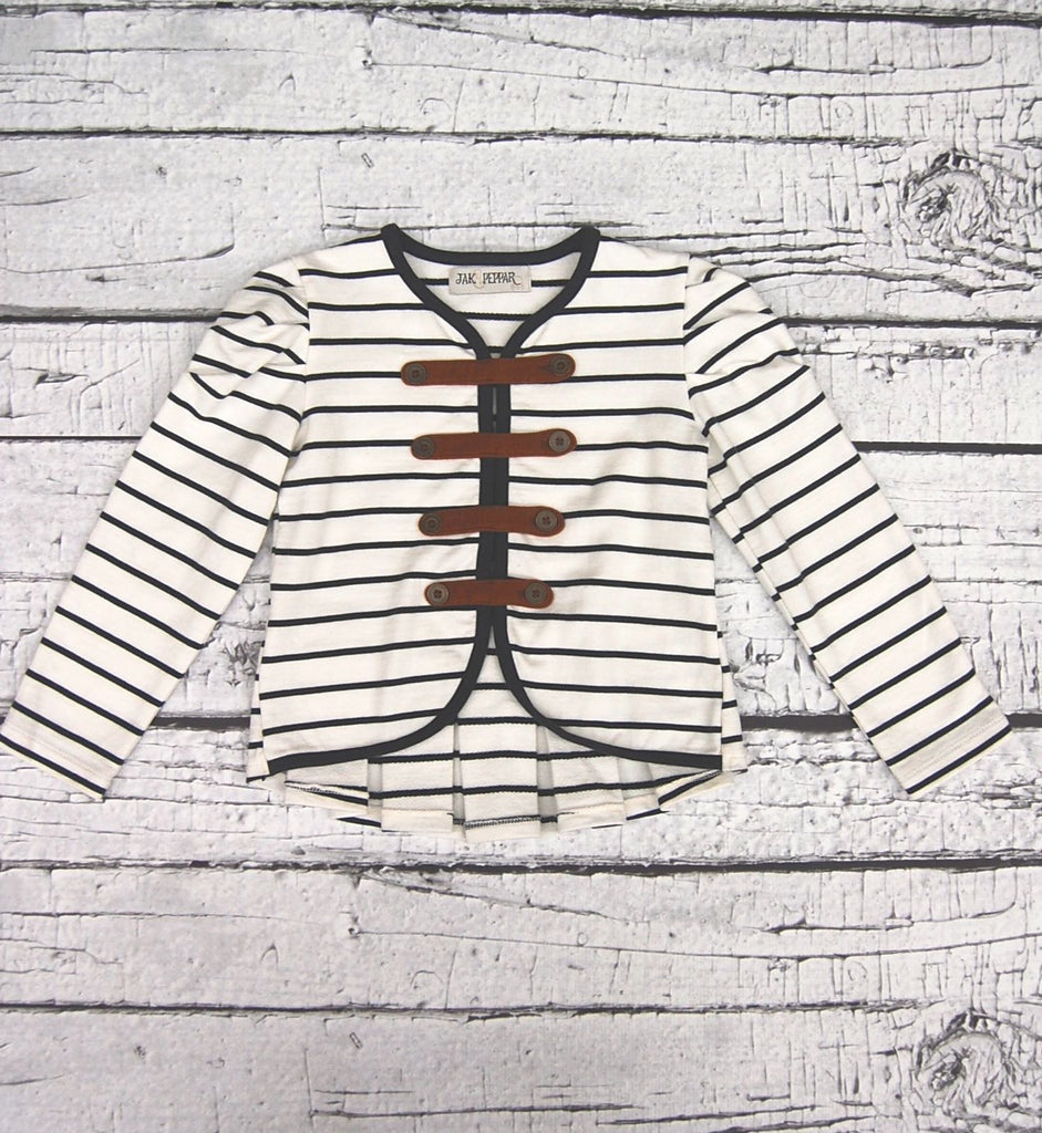 Able Jacket in Vanilla Slate Stripe