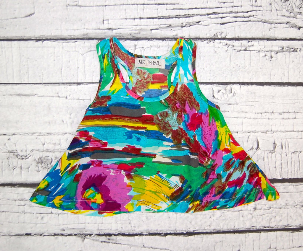 Golden Age Tank in Splatter Garden Motif