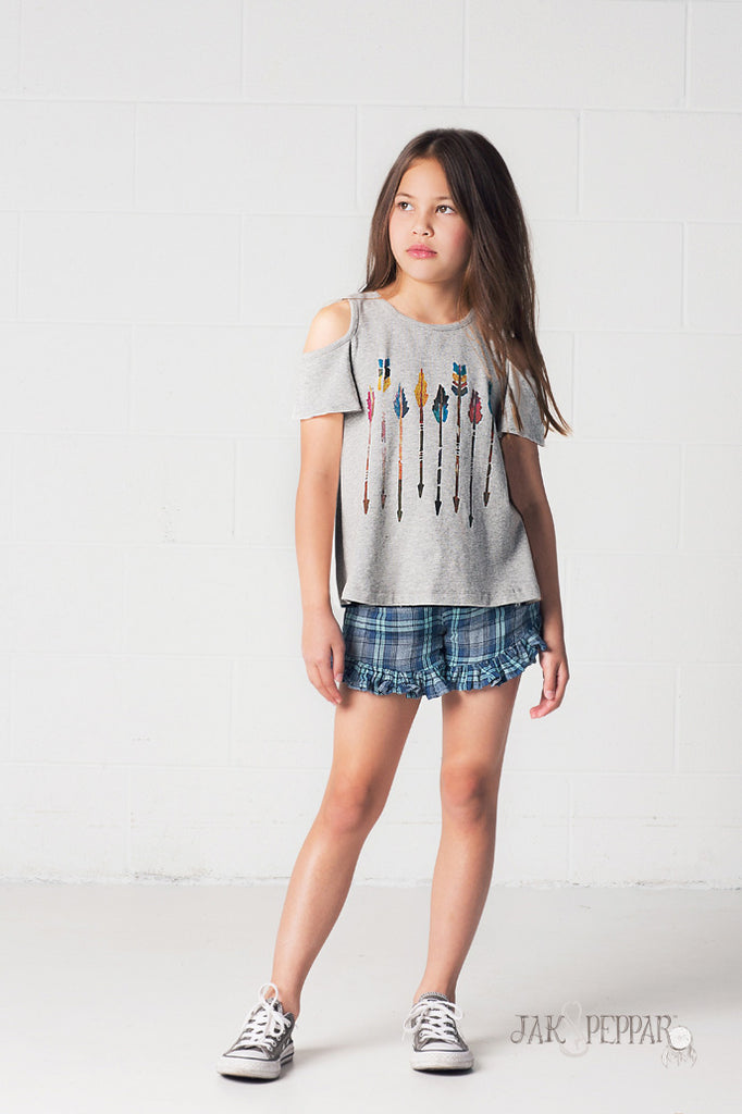 Flutter By Top in Heather Grey