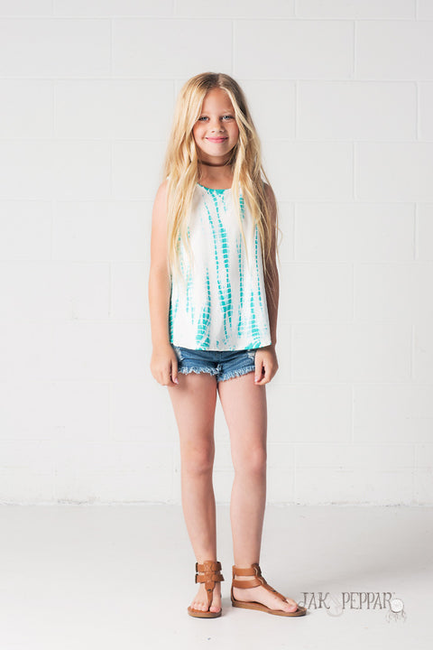 Justine Swing Tank in Aquamarine Dazed