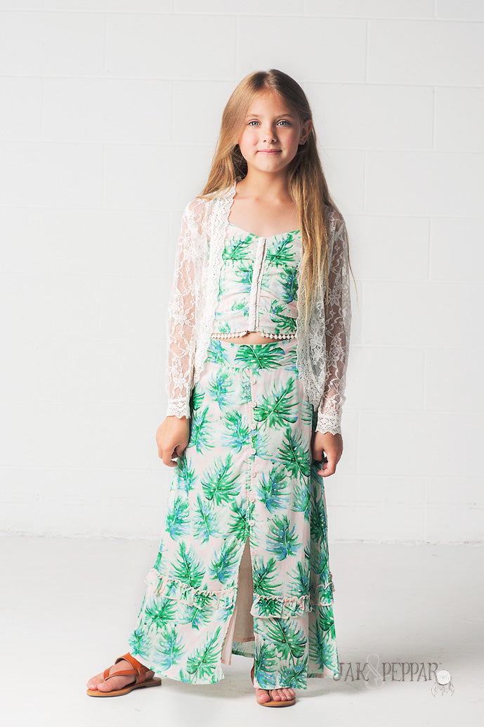 Emmaline Maxi Skirt in Palmetto Island
