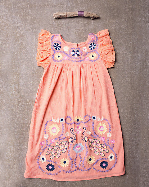 Flower Child Dress in Tangerine