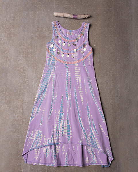 Sun and Moon Dress in Dazed Lavender