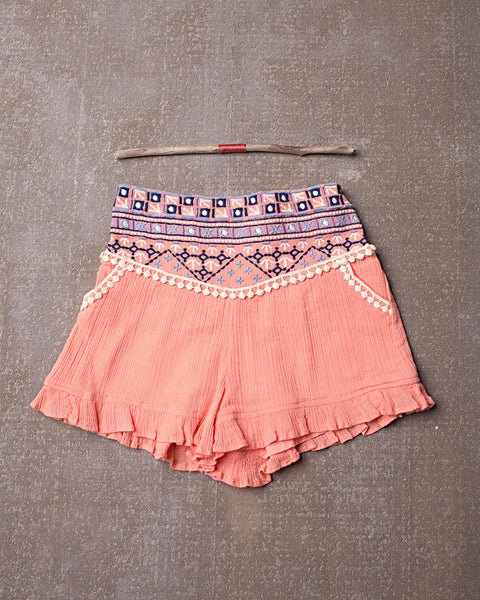 Layla Short in Tangerine