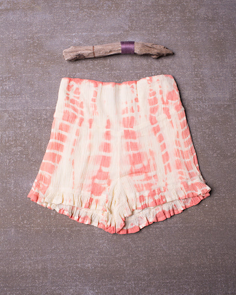 Washed Away Shorts in Dazed Tangerine