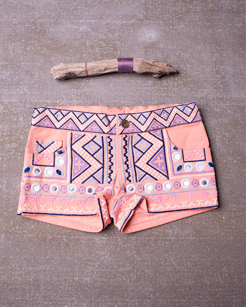Urban Jungle Short in Tangerine