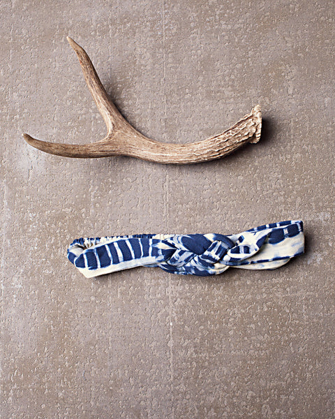 Chella Braided Headband in Dazed Navy