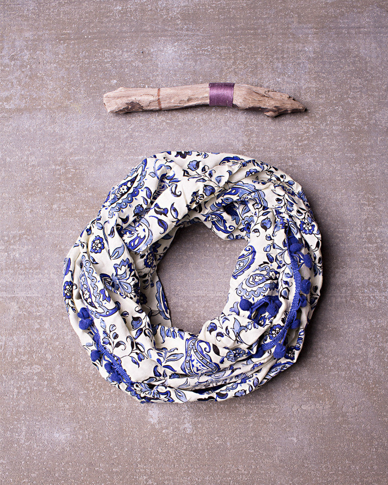 Like The Wind Scarf in Navy