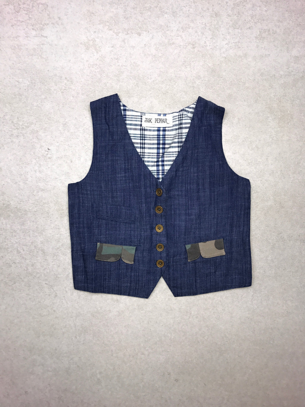 Junk Town Vest in Chambray