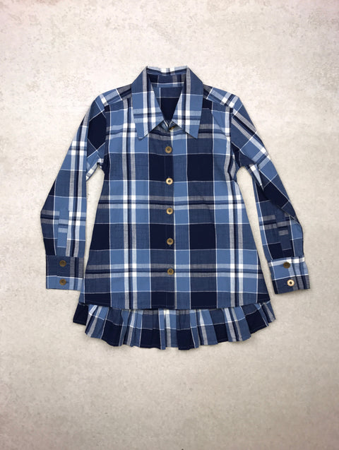 Fly Away Button Down in Sky Blue Plaid