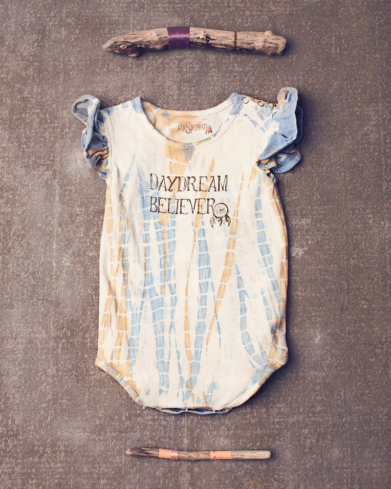 Avonlea onesie in Dazed Spa Blue Stone