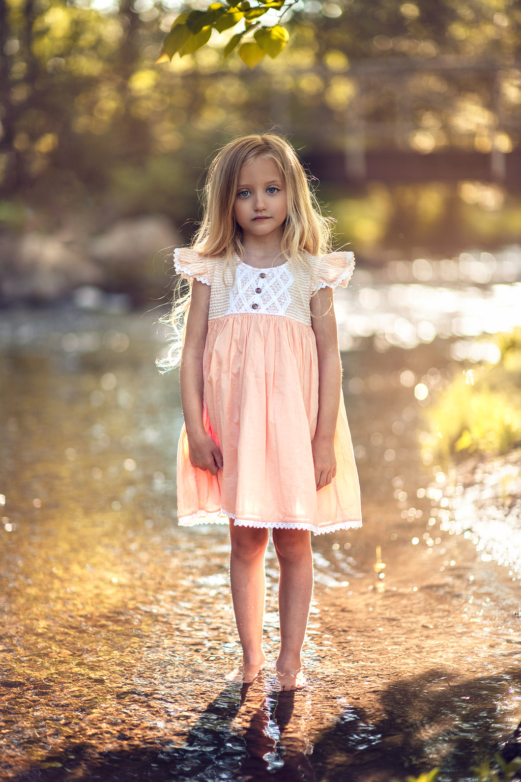 Adelaide Dress in Peachy