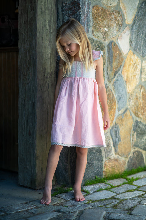 Isadora Dress in Bubblegum Bisque