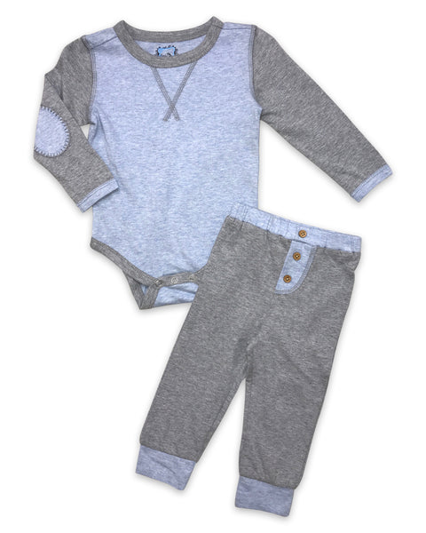 Riley Set in Heathered Blue
